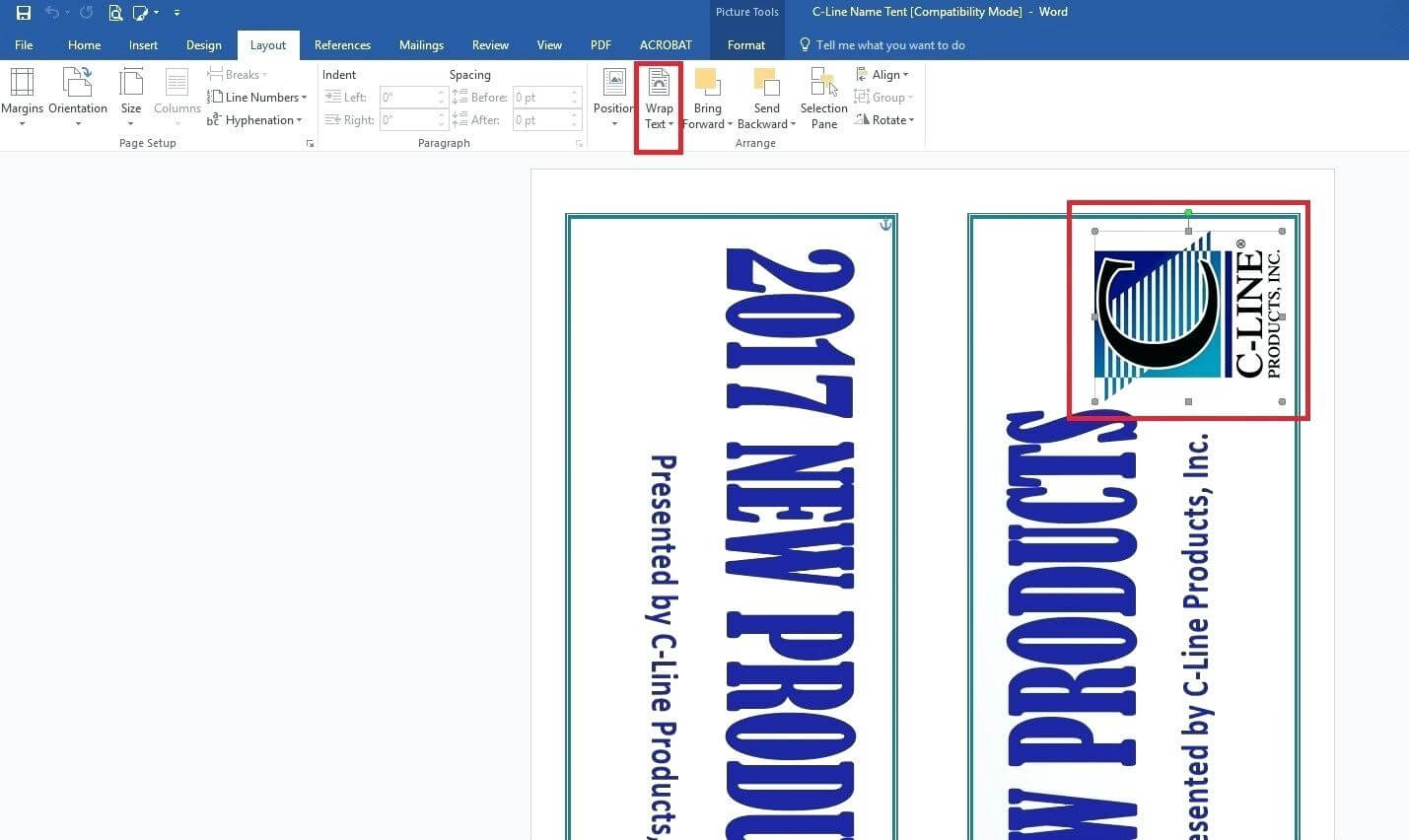 Template: How To Create Large Name Tent Cards C Line with regard to Free Tent Card Template Downloads