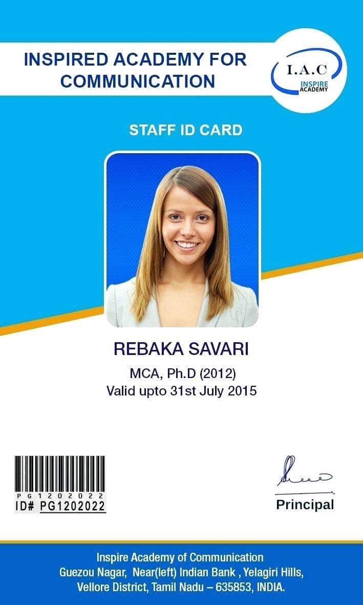 Template: Id Card Designs Cards Template School Design In Portrait Id Card Template