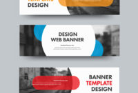 Template Of Horizontal Web Banners With Round And for Photography Banner Template