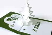 Template Pop-Up Card «Christmas Tree» inside Pop Up Tree Card Template