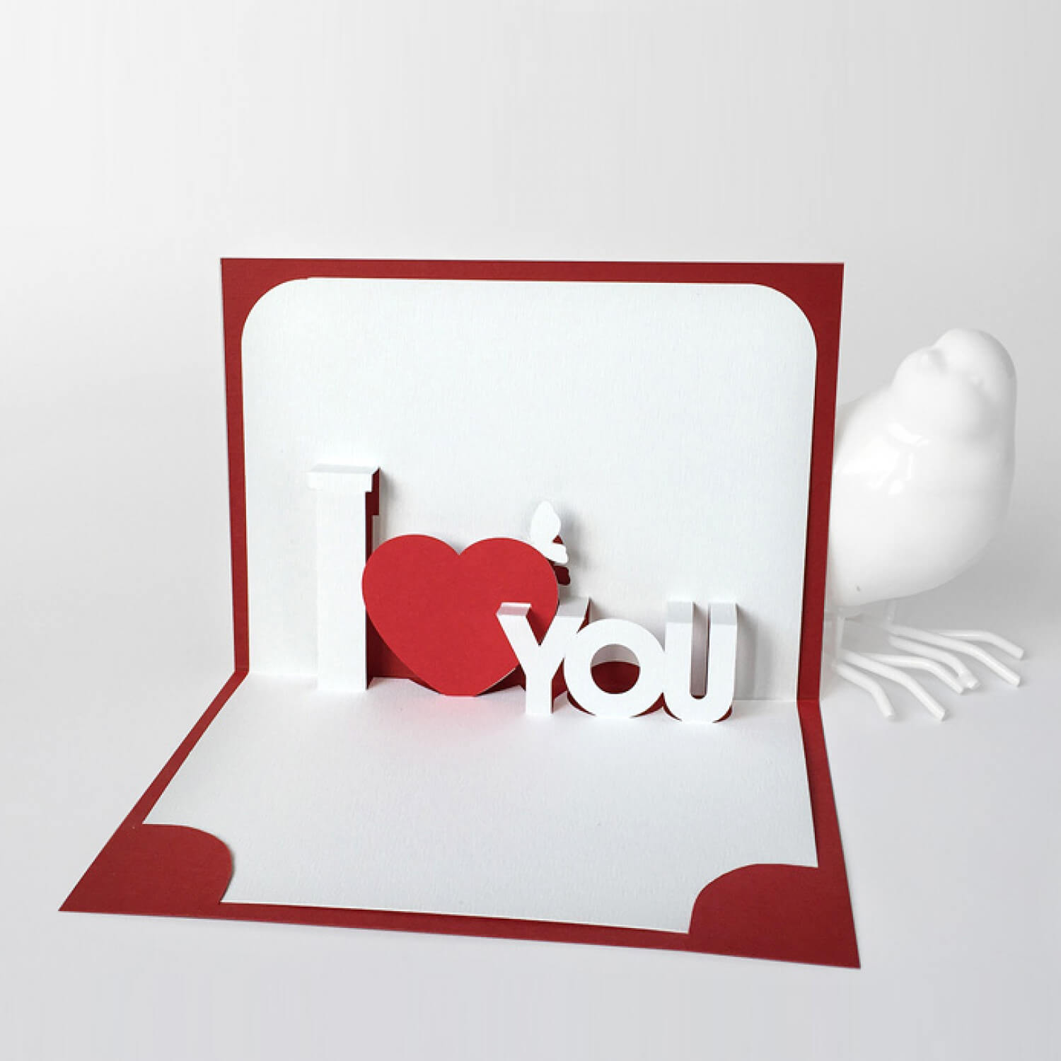Template Pop Up Card «I Love You» Within I Love You Pop Up Card Template