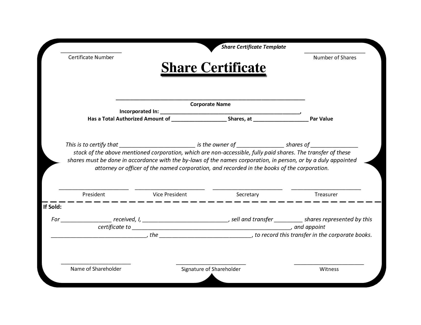 Template Share Certificate Rbscqi9V In 2019 | Certificate inside Blank Share Certificate Template Free