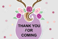 Template With Deer Headband For Party Invitation, Baby Shower,.. throughout Headband Card Template