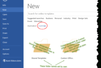 Templates In Microsoft Word – One Of The Tutorials In The regarding How To Create A Template In Word 2013