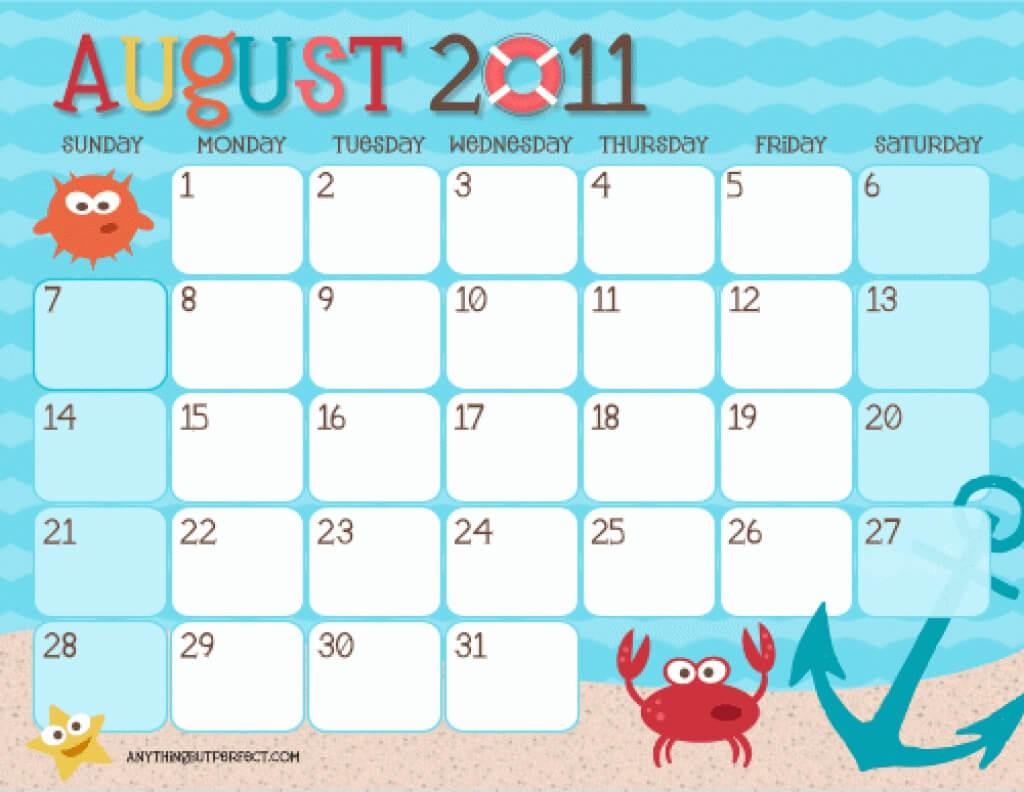 Templates Of Calendars For Kids   Calendar Template 2019 with Blank Calendar Template For Kids