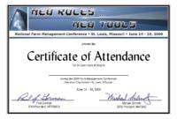 Templates Of Certificate Attendance Template Word For throughout Certificate Of Attendance Conference Template