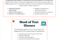 Test Closure:why It's Required? throughout Test Summary Report Template