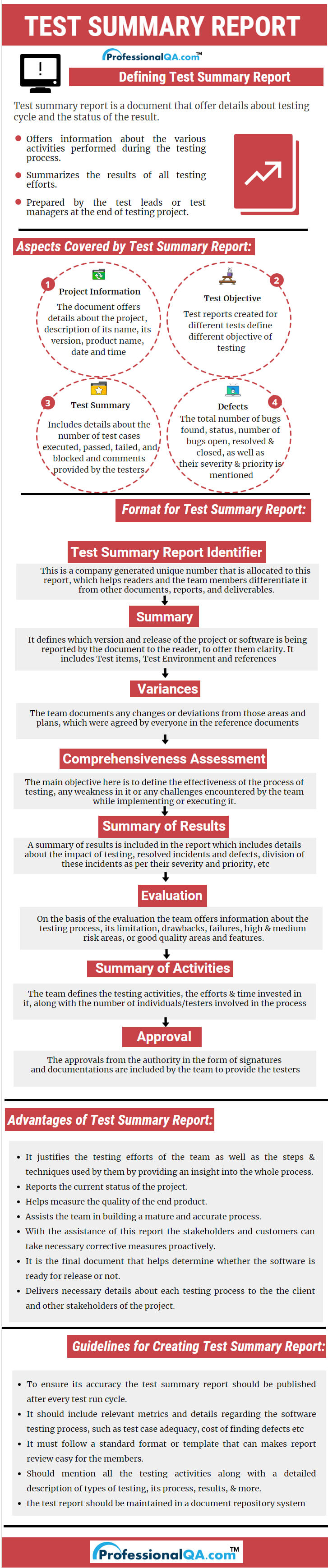 Test Summary Report  Professionalqa within Evaluation Summary Report Template