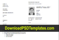 Texas Temporary Permit Template Psd with Texas Id Card Template