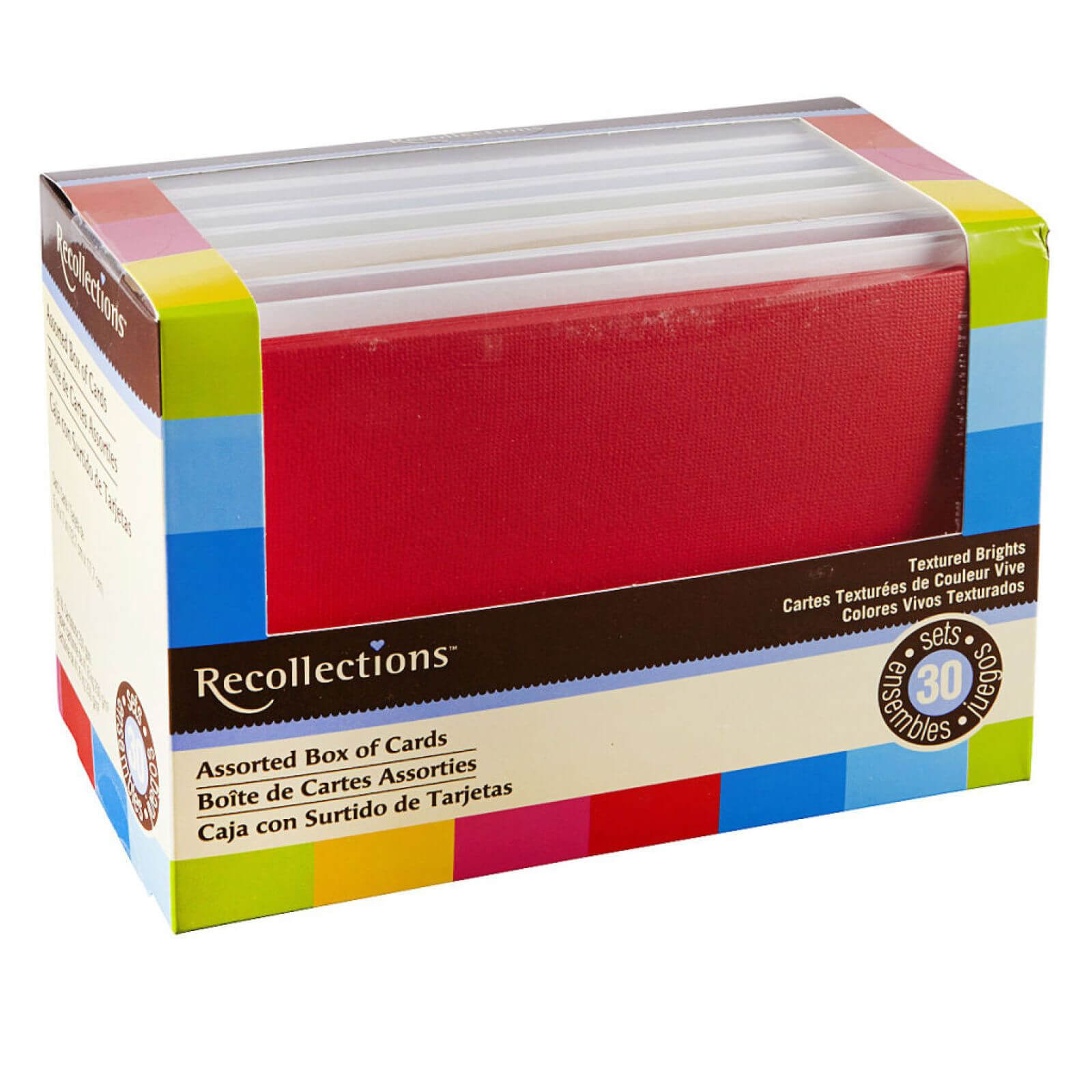 """Textured Brights Box Cardsrecollections®, 5"""" X 7 pertaining to Recollections Cards And Envelopes Templates"""