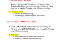 Thank You Card & Gift Certificate Microsoft Publisher . For Gift Certificate Template Publisher