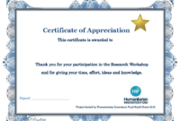 Thank You Certificate Template   Certificate Templates with Certificate Of Participation In Workshop Template