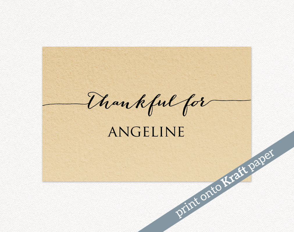 Thanksgiving Place Cards · Wedding Templates And Printables for Thanksgiving Place Cards Template