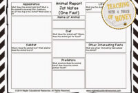 The Best Of Teacher Entrepreneurs Iii: Writing Lesson Throughout Animal Report Template