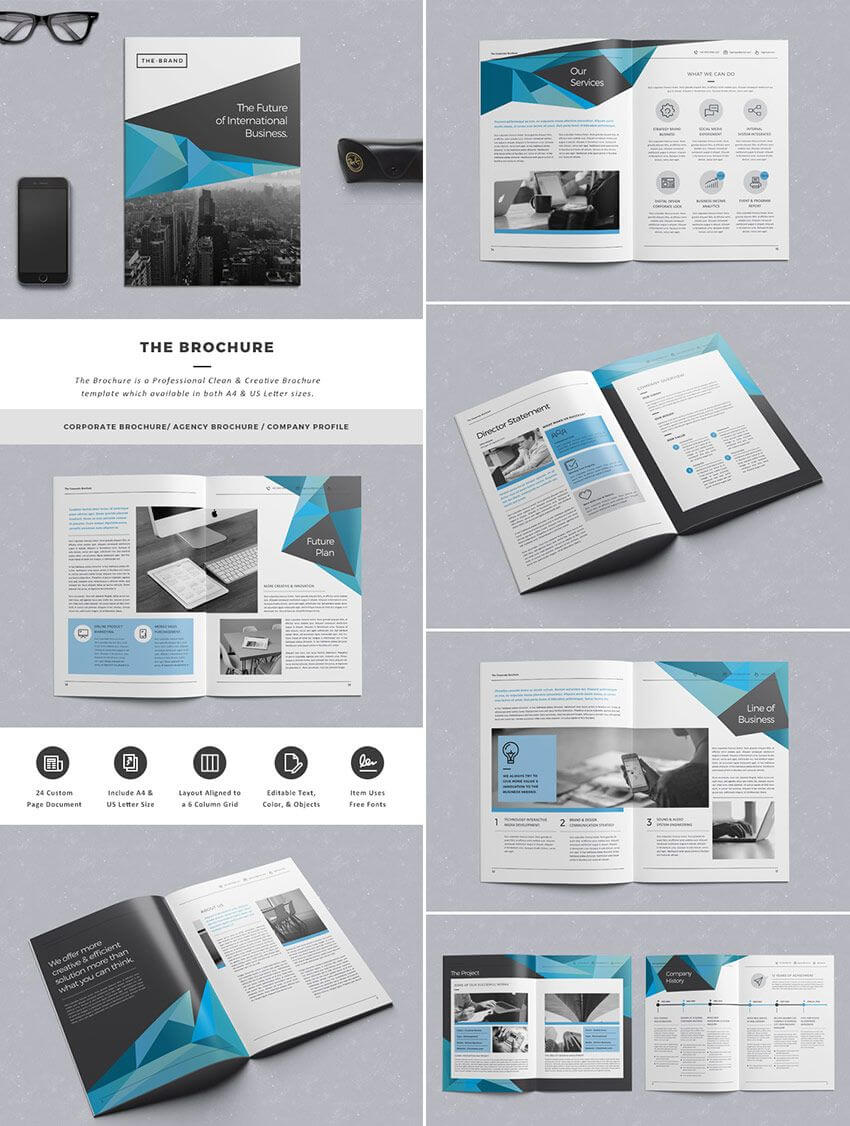 The Brochure - Indd Print Template | Brochure Template regarding Product Brochure Template Free