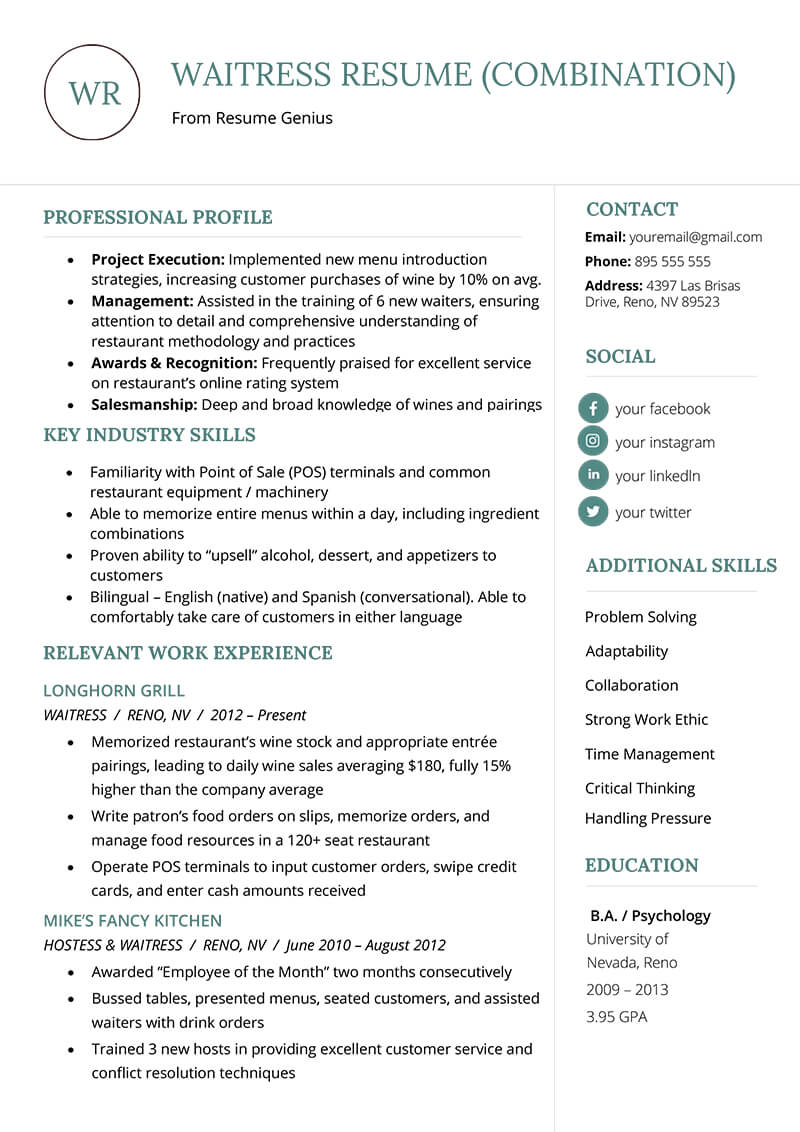 The Combination Resume: Examples, Templates, & Writing Guide Pertaining To Combination Resume Template Word