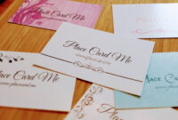 The Definitive Guide To Wedding Place Cards | Place Card Me for Celebrate It Templates Place Cards