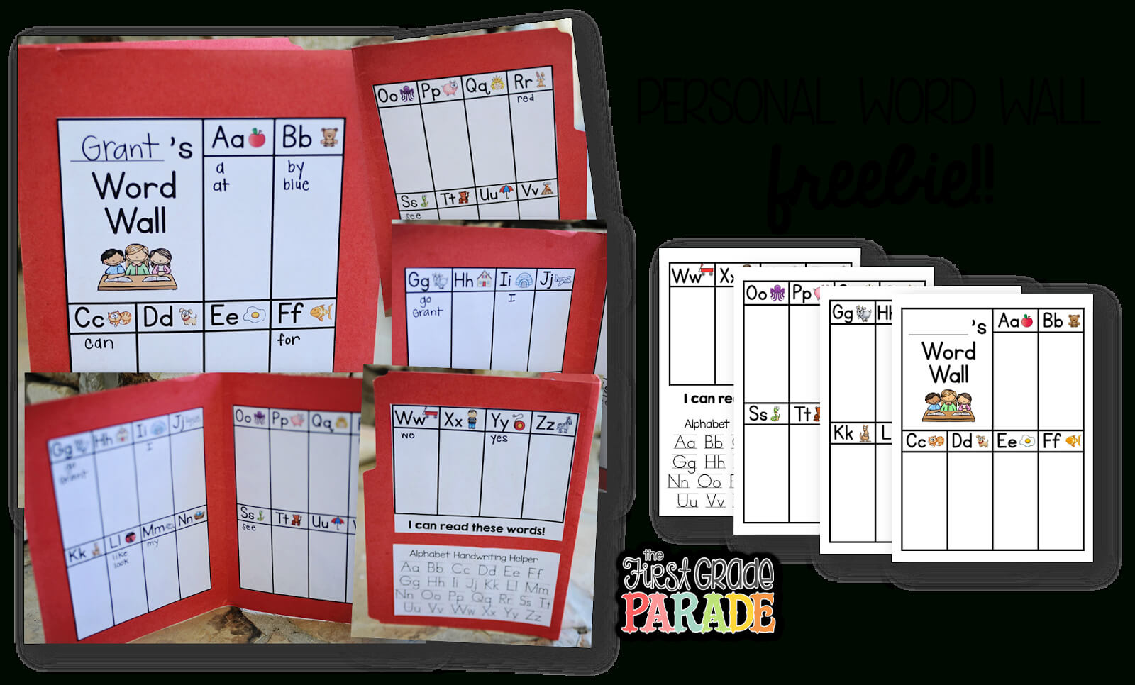 The First Grade Parade Let 39 S Talk Word Walls. Silver in Blank Word Wall Template Free