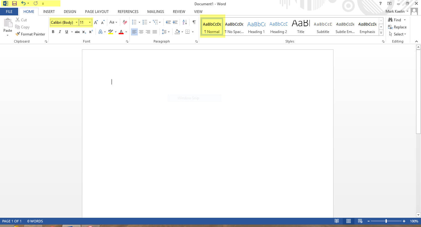 The First Nine Things I Do To Default Settings In Word 2013 for Change The Normal Template In Word 2010