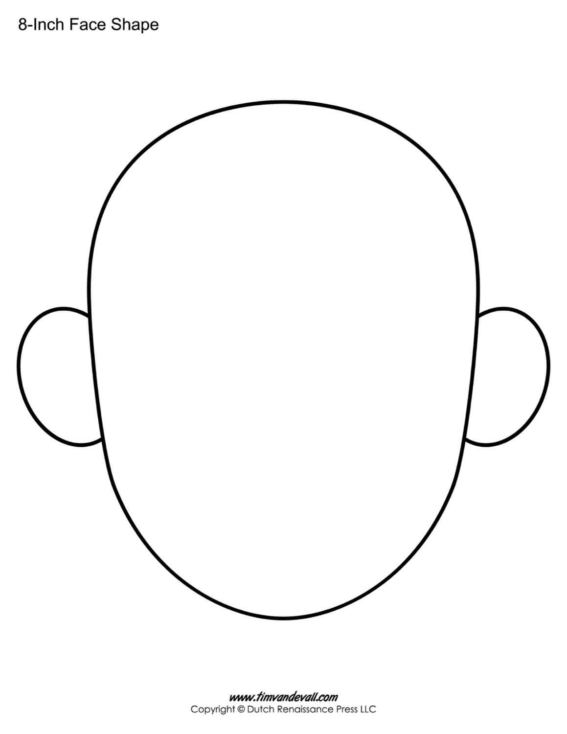 The Following Blank Face Templates Can Be Use For A Variety With Regard To Blank Face Template Preschool