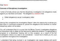 The Moray Council Disciplinary Procedures – Pdf throughout Investigation Report Template Disciplinary Hearing