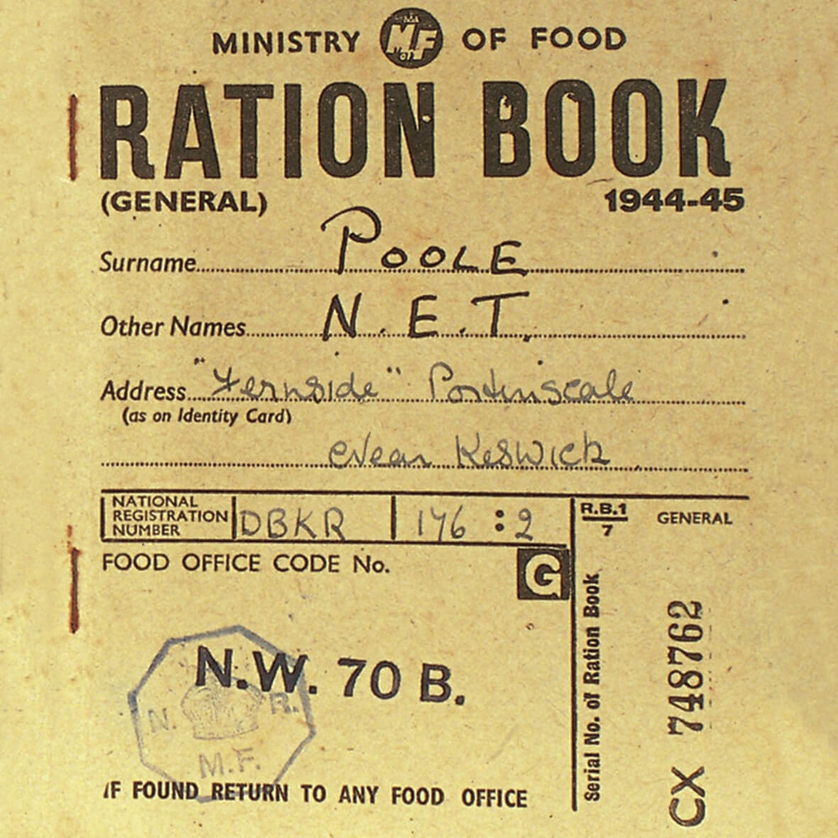 The Olde Curiosity Blog: #ww2 Rationing In The Second World in World War 2 Identity Card Template