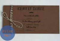The Petit Cadeau: Printable Gift Certificates For Men! regarding Homemade Gift Certificate Template