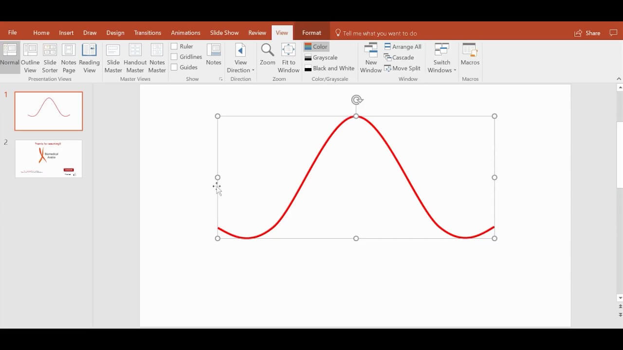 The Quickest Way To Draw A Sine Wave, Bell Curve, Or Any Curve Using  Powerpoint throughout Powerpoint Bell Curve Template