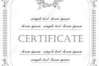 The Template For The Certificate And License In Vintage Classic-Style.. with Certificate Of License Template