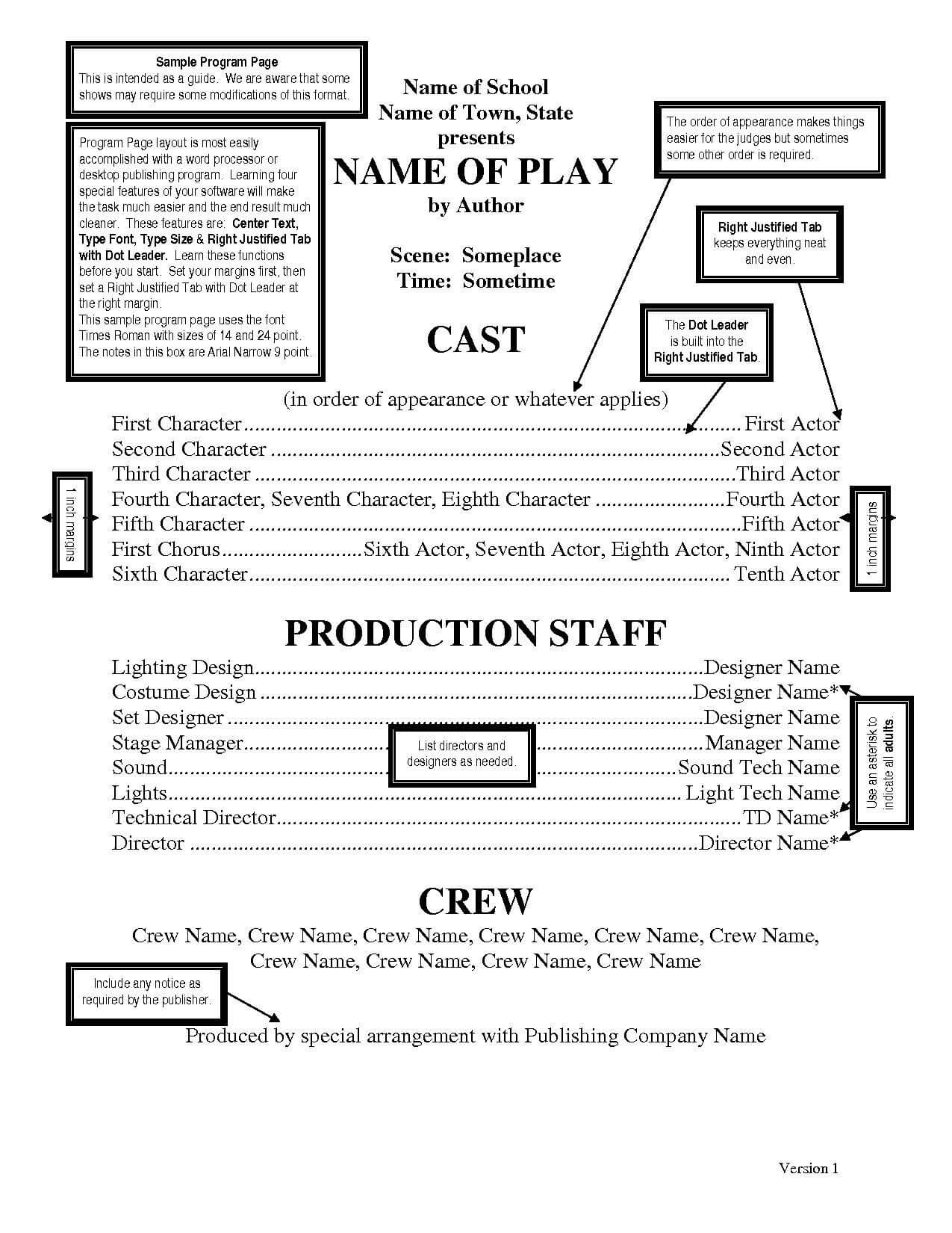 Theatre Programs Template – Google Search | Little Mermaid Within Playbill Template Word