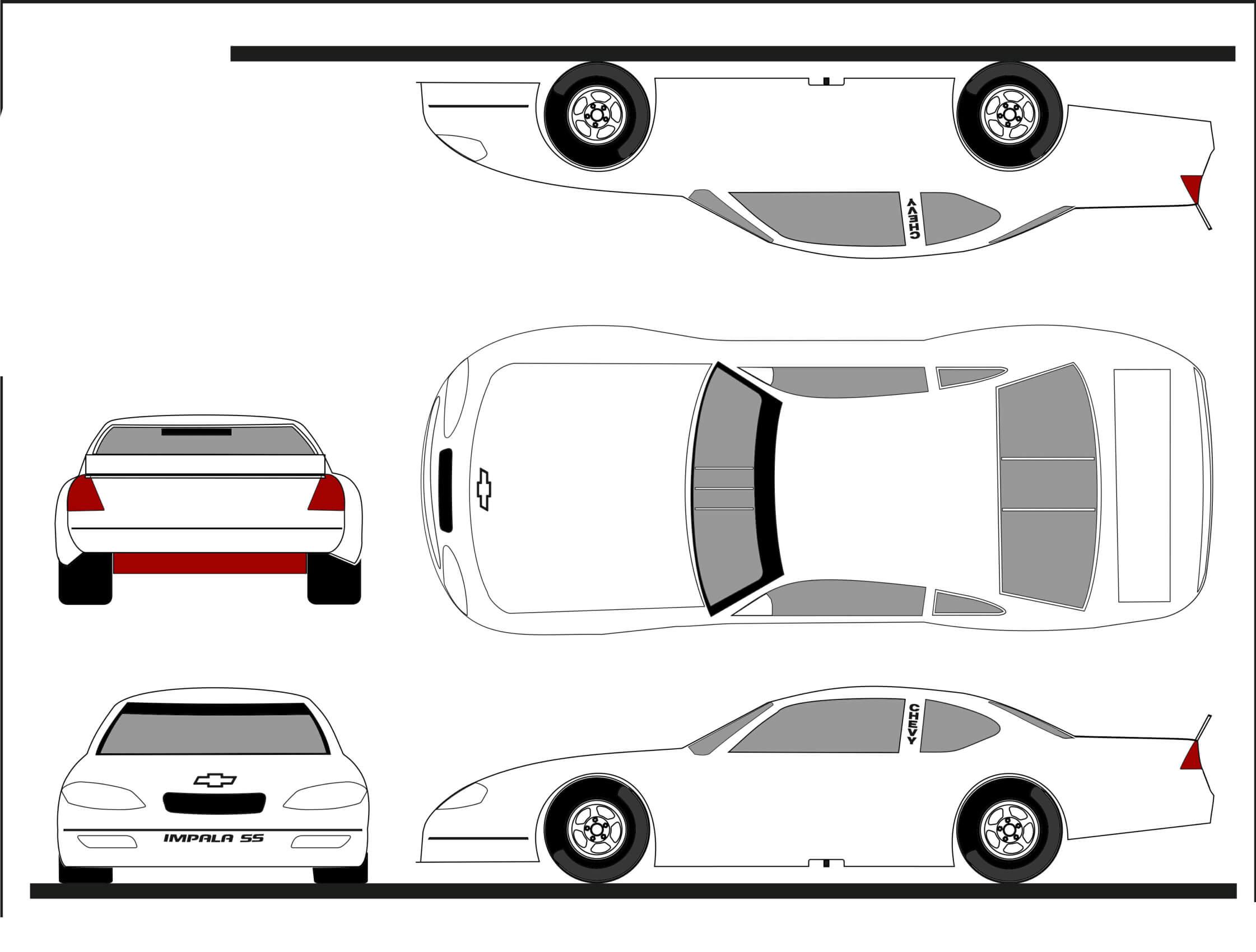 Thebrownfaminaz: Blank Nascar Car Template With Blank Race Car Templates