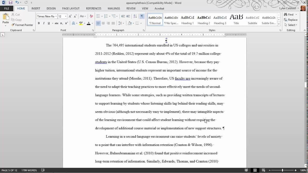Thesis Formatting: Ms Word Tips Within Ms Word Thesis Template