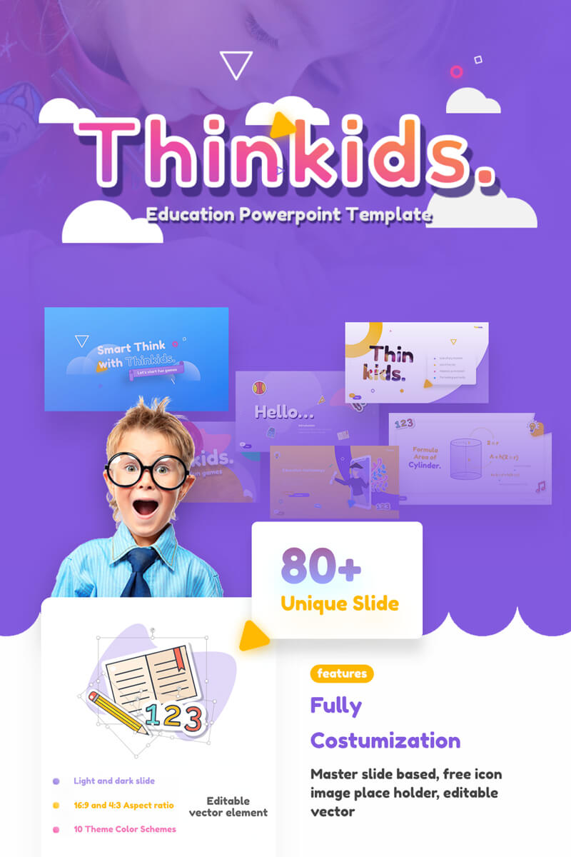 Thinkids - Fun Games & Education Powerpoint Template For Powerpoint Template Games For Education