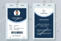 This Id Card Template Perfect For Any Types Of Agency intended for Work Id Card Template
