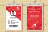 This Id Card Template Perfect For Any Types Of Agency within Company Id Card Design Template