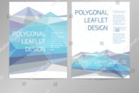 Threecolumn Doublesided Vector Leaflet Brochure Cover Stock regarding One Sided Brochure Template