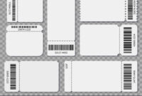 Ticket Templates Blank Admit One Festival Concert Vector Image pertaining to Blank Admission Ticket Template