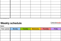 Time Schedule Template | Lera Mera intended for Powerpoint Calendar Template 2015