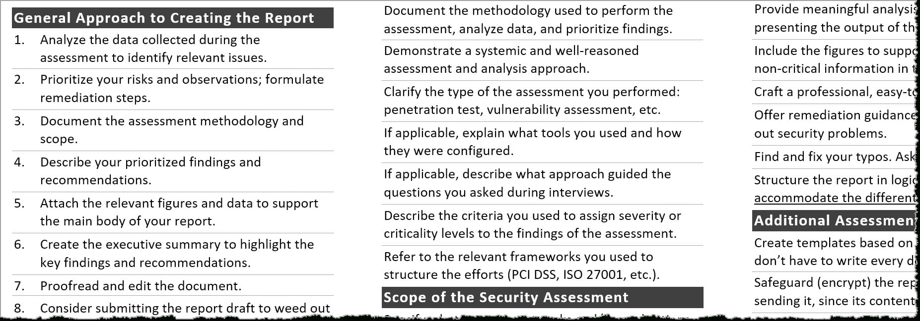 Tips For Creating A Strong Cybersecurity Assessment Report regarding Pci Dss Gap Analysis Report Template