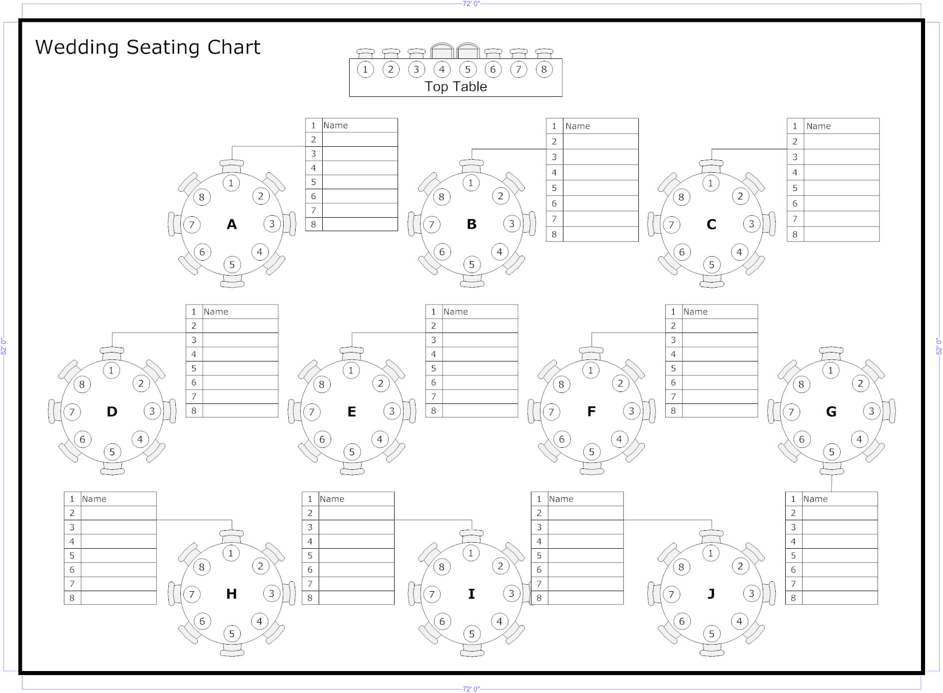 Tips To Seat Your Wedding Guests | Seating Chart Wedding With Regard To Wedding Seating Chart Template Word