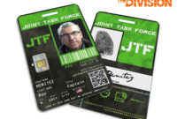 Tom Clancy's The Division Inspired Jtf Joint Task Force In Mi6 Id Card Template