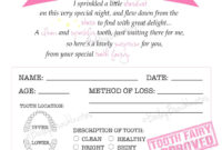 Tooth Fairy Certificate – Pink – Instant Download throughout Free Tooth Fairy Certificate Template