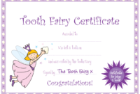 Tooth Fairy Certificate … | Yaidies Fairy | Tooth Fairy throughout Free Tooth Fairy Certificate Template
