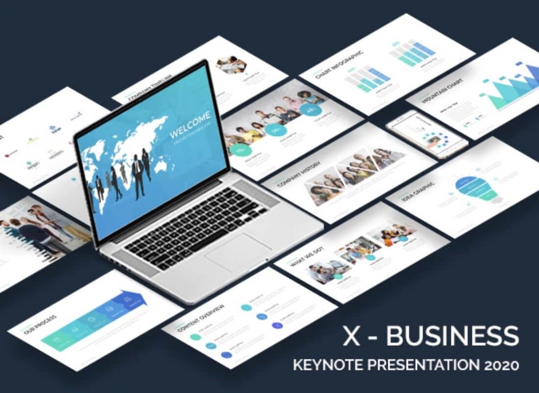 Top 37 Free Templates For Apple Keynote 2019 - Colorlib Intended For Keynote Brochure Template