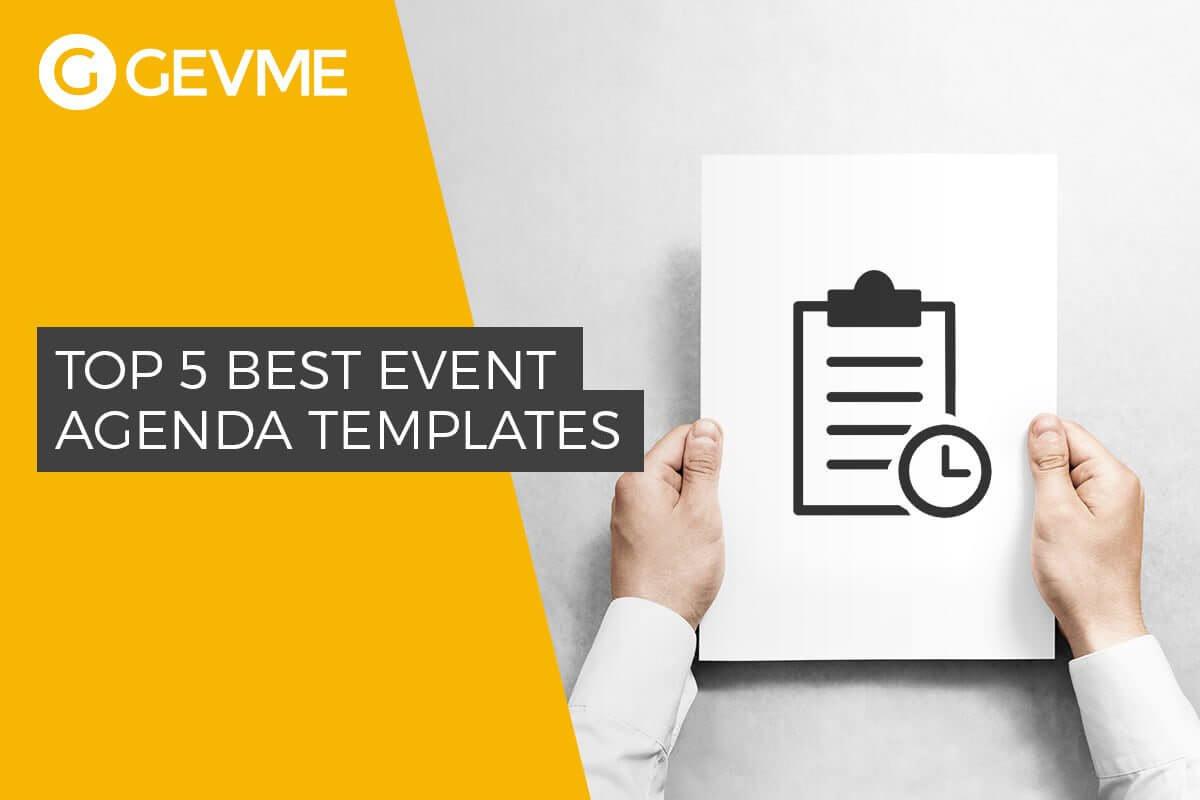 Top 5 Best Event Agenda Templates With Regard To Event Agenda Template Word