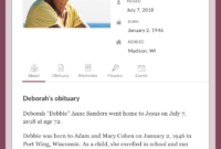 Top Free Obituary Templates   Ever Loved pertaining to Fill In The Blank Obituary Template