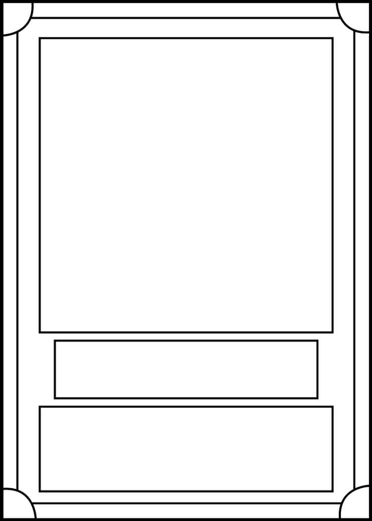Trading Card Template Frontblackcarrot1129 On Deviantart inside Free Trading Card Template Download