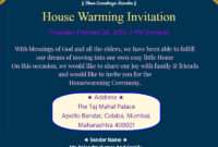 Traditional House Warming Invitation Card 3 Invitation With Free Housewarming Invitation Card Template