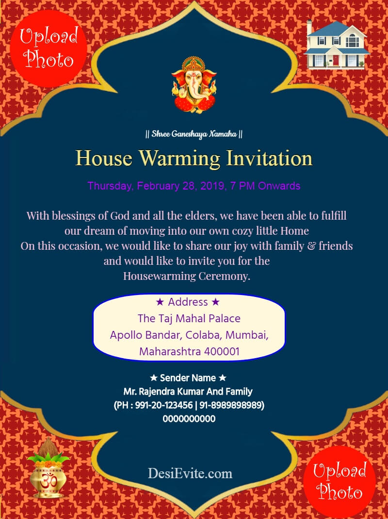 Traditional-House-Warming-Invitation-Card-3 Invitation with Free Housewarming Invitation Card Template