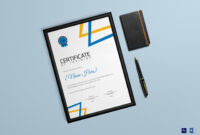 Training Participation Certificate Template – Major throughout Manager Of The Month Certificate Template
